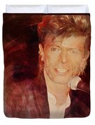 Music Icons - David Bowie Iv Duvet Cover