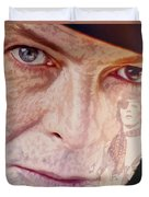 Music Icons - David Bowie Vll Duvet Cover