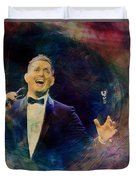 Music Icons - Michael Buble IIi Duvet Cover