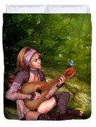 Music In The Woods Duvet Cover