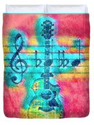 Music Is Everything In Colors Duvet Cover