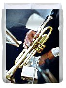 Music Man Trumpet Duvet Cover