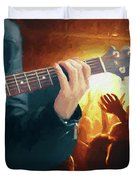Music Soothes The Soul - Painting1 Duvet Cover by Ericamaxine Price