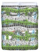 Musical Abstract Duvet Cover