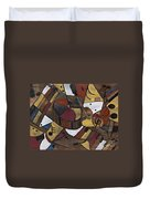 Musicality In Brown Duvet Cover