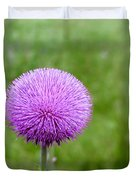 Musk Thistle Bloom Cycle Duvet Cover