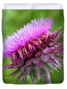 Musk Thistle Blooming Duvet Cover