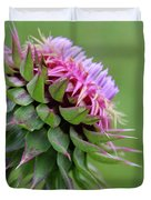 Musk Thistle In Bloom Duvet Cover