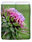 Musk Thistle In Bloom Duvet Cover
