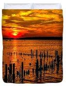 Muskegon Sunset Duvet Cover