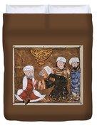 Muslim Court, 1334 A.d Duvet Cover