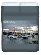 Musselburgh Marina In The Sunset. Duvet Cover