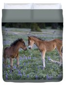 Mustang Foals Duvet Cover