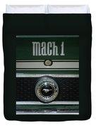 Mustang Mach 1 Emblem Duvet Cover