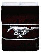Mustang Pony Logo Duvet Cover