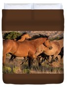 Mustang Run Duvet Cover