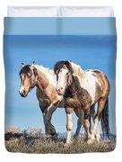 Mustang Twin Stallions Duvet Cover