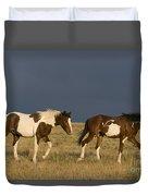 Mustangs In Nevada Duvet Cover