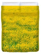 Mustard Flowers Duvet Cover
