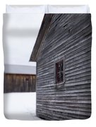 Musterfield Farm North Sutton Nh Old Buildings In The Snow Duvet Cover
