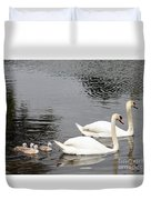 Mute Swan Family Day Two Duvet Cover