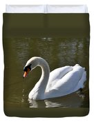 Mute Swan On Rolleston Pond Duvet Cover