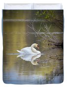 Mute Swan Reflection Duvet Cover