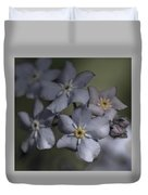 Muted Forget Me Not  Duvet Cover