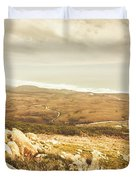 Muted Mountain Views Duvet Cover