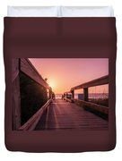 My Atlantic Dream -the Boardwalk  Duvet Cover