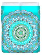 My Blue Heaven Mandala Duvet Cover
