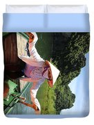 My Boat Guide For The Tour.  Duvet Cover
