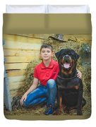 My Brother And The Dog 2 Duvet Cover