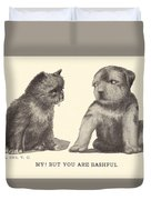 My But You Are Bashful Duvet Cover