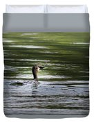 Cormorant - My Catch For The Day Duvet Cover