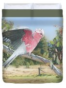 My Country - Galah Duvet Cover