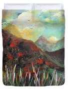 My Days In The Mountains Duvet Cover
