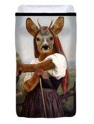 My Deer Shepherdess Duvet Cover