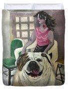 My Dog, My Friend Duvet Cover by Mimi Eskenazi