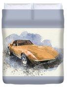 Orange Dream Car Duvet Cover