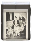 My Family, Second Stone George Bellows  Duvet Cover