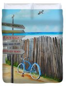 My Favorite Beaches Duvet Cover
