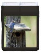 My First Bluebird Duvet Cover