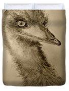 My Friend Emu Duvet Cover