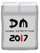 My Global Spirit Tour 2017 - Black Duvet Cover