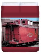 My Little Red Caboose Duvet Cover