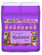 My Redeemer Lives Spanish Duvet Cover
