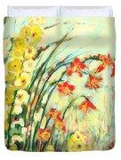 My Secret Garden Duvet Cover by Jennifer Lommers