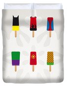 My Superhero Ice Pop - Univers Duvet Cover by Chungkong Art