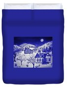 My Take On Grandma Moses Art Duvet Cover
